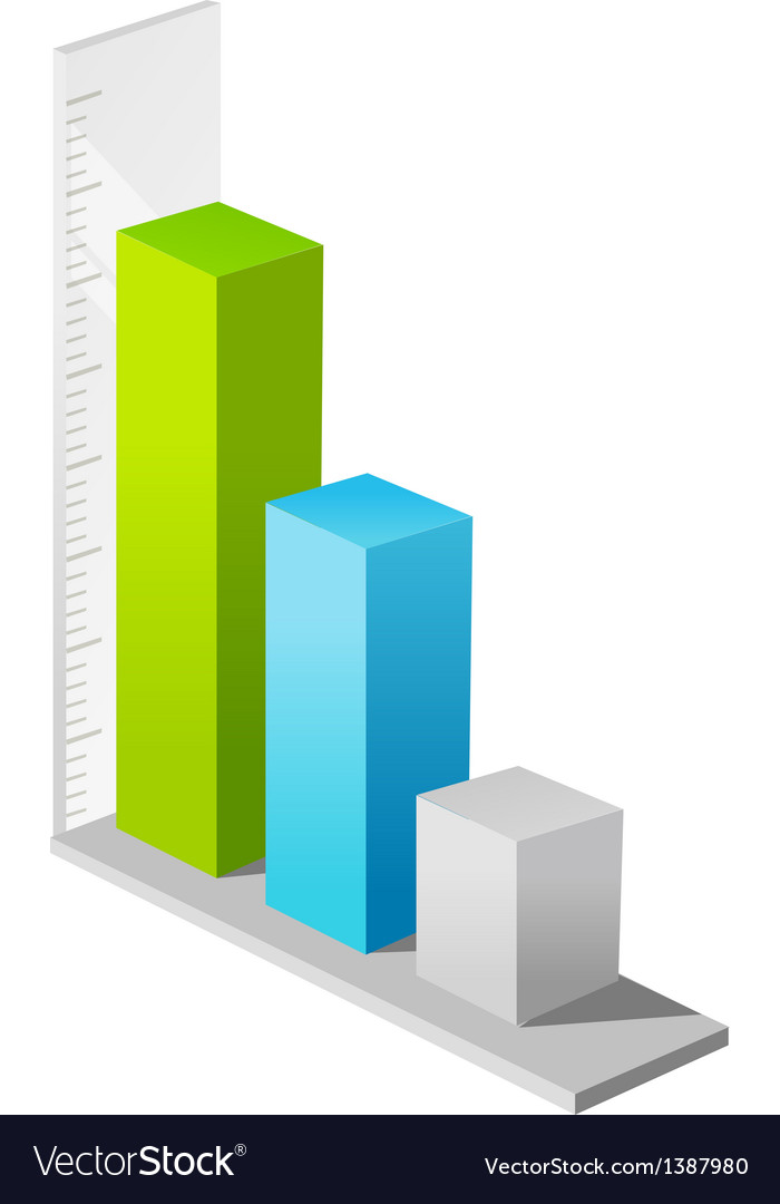 Icon bar graph vector | Price: 1 Credit (USD $1)