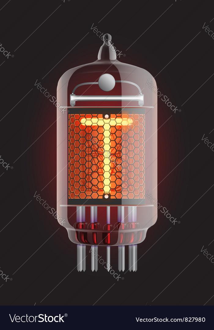 Nixie tube indicator vector   Price: 1 Credit (USD $1)