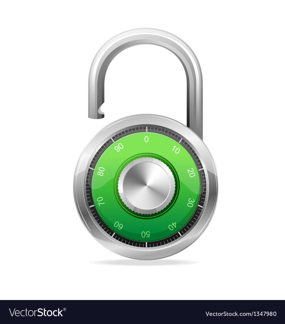 Opened lock security concept padlock vector | Price: 1 Credit (USD $1)