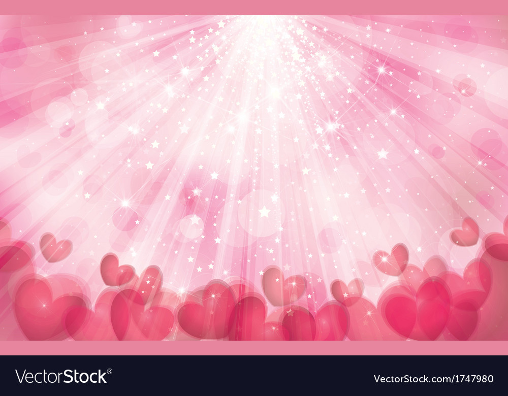 Pink heart background vector | Price: 1 Credit (USD $1)