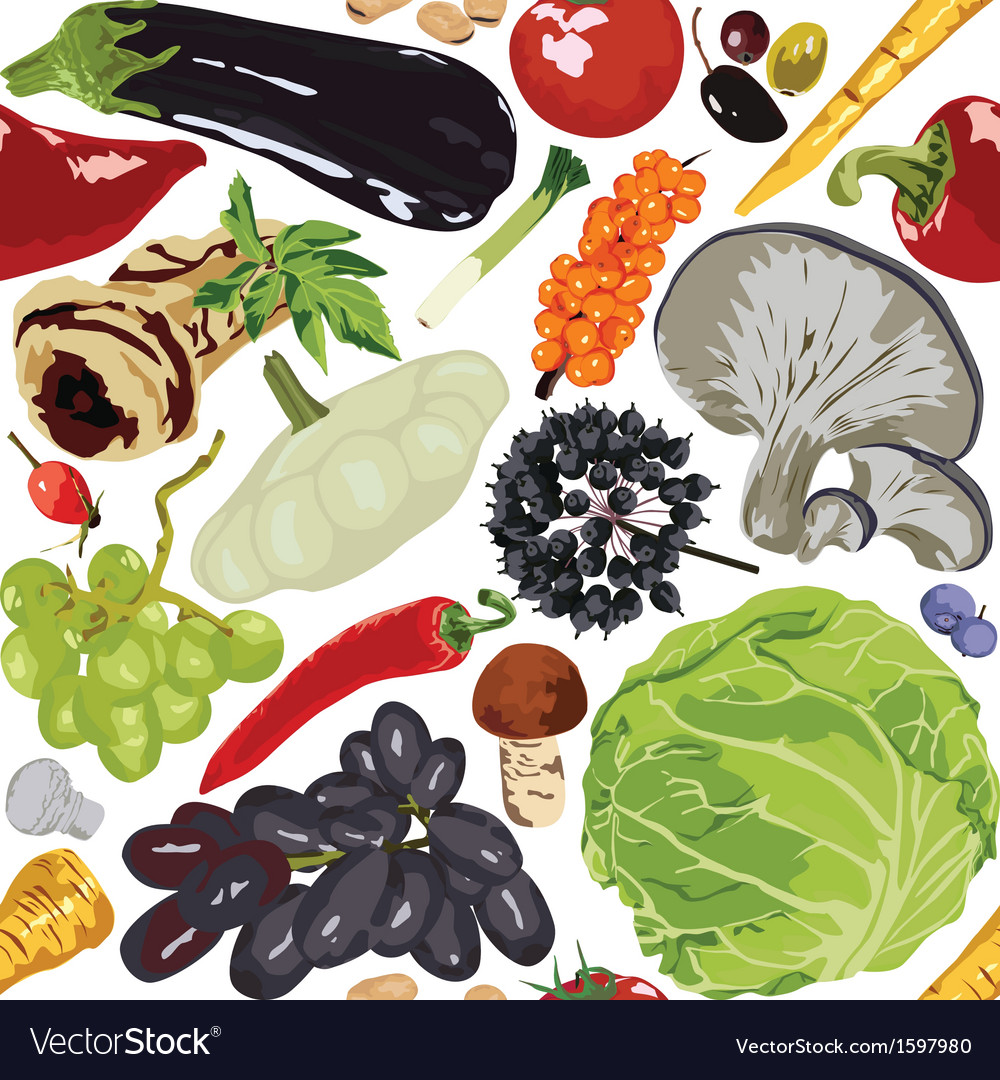 Seamless background autumn vegetables vector   Price: 1 Credit (USD $1)