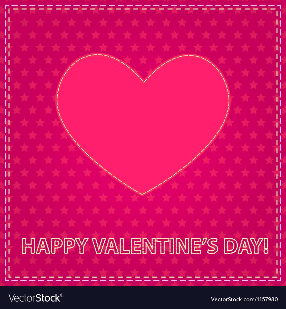Sew valentine vector | Price: 1 Credit (USD $1)