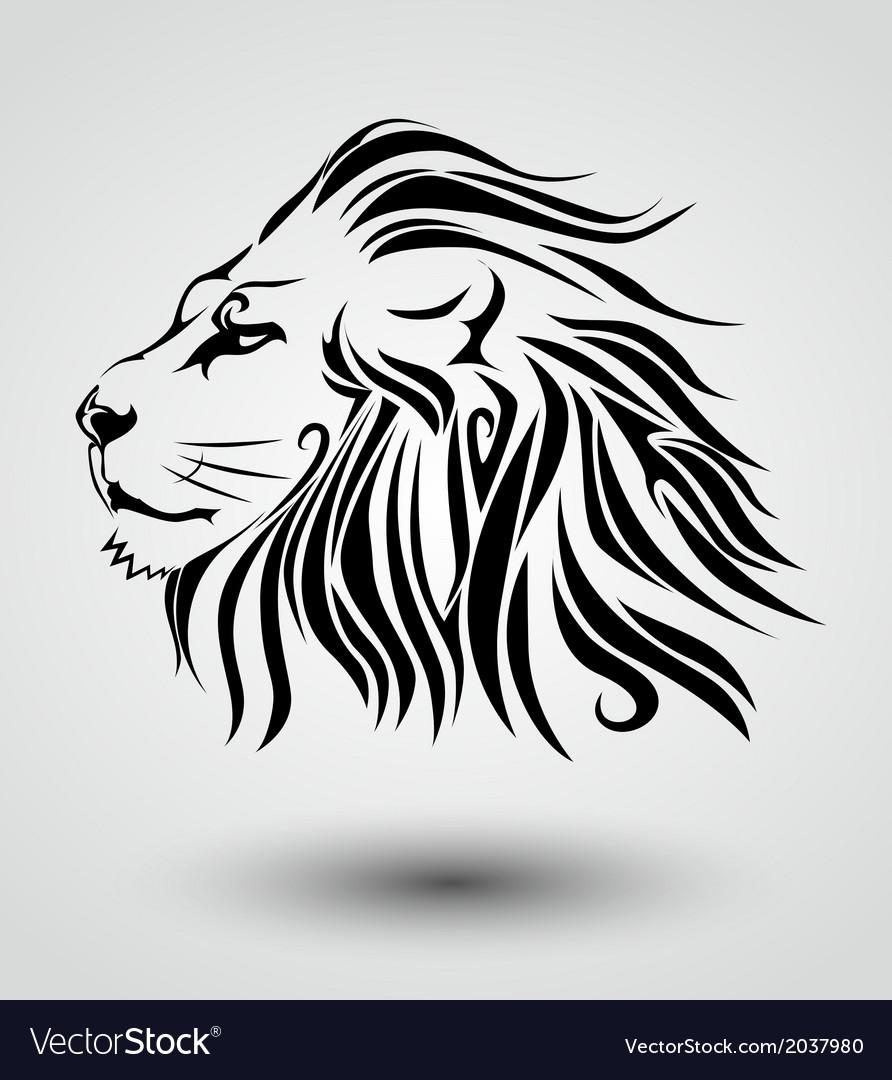 Tribal lion vector | Price: 1 Credit (USD $1)