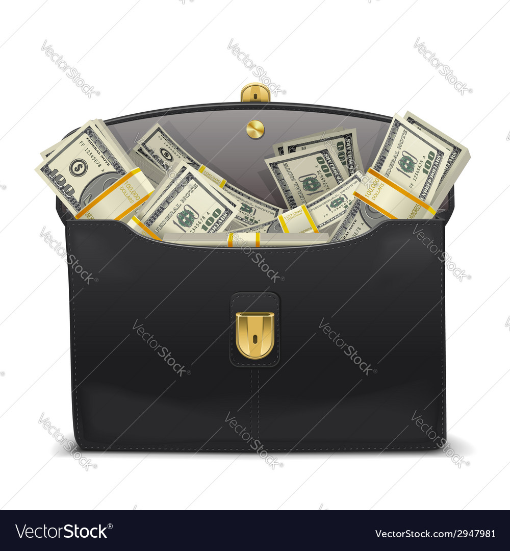 Case with money vector | Price: 1 Credit (USD $1)