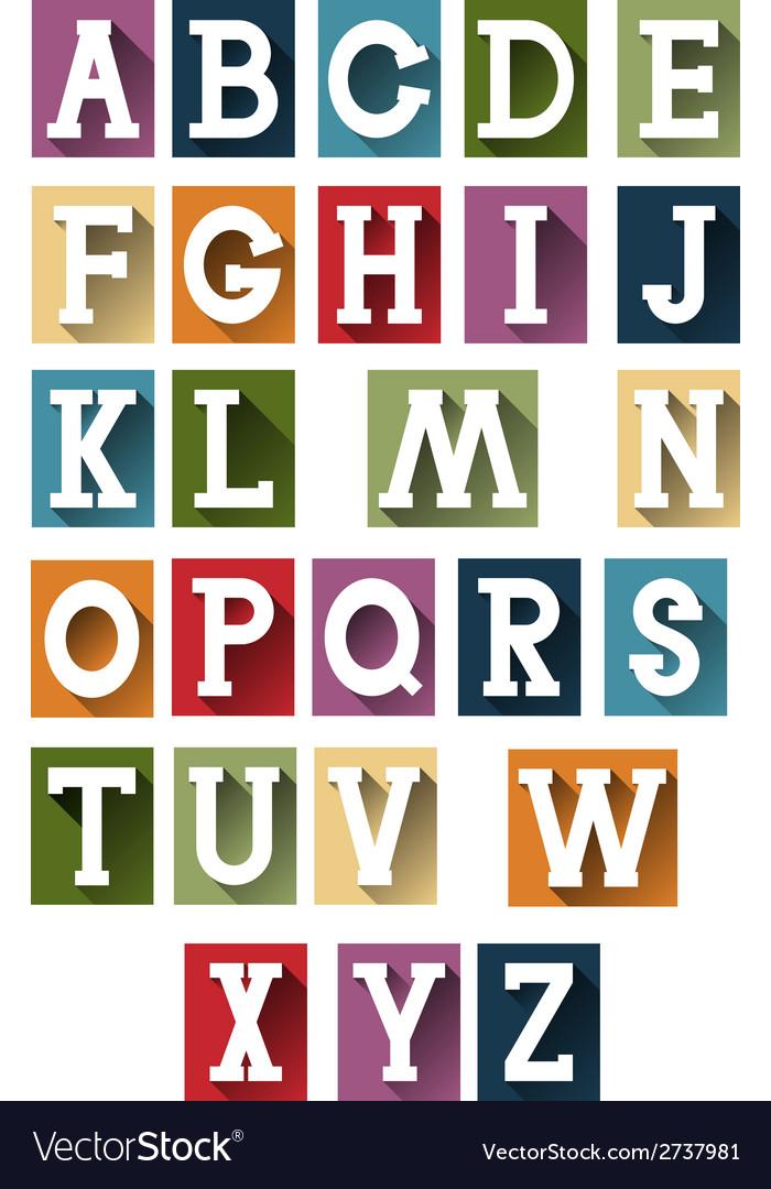 Colorful retro alphabet vector   Price: 1 Credit (USD $1)