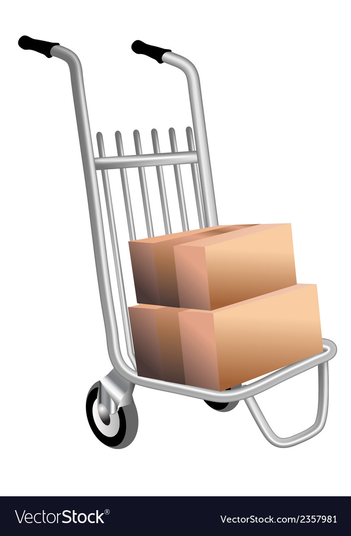 Courier trolley vector | Price: 1 Credit (USD $1)