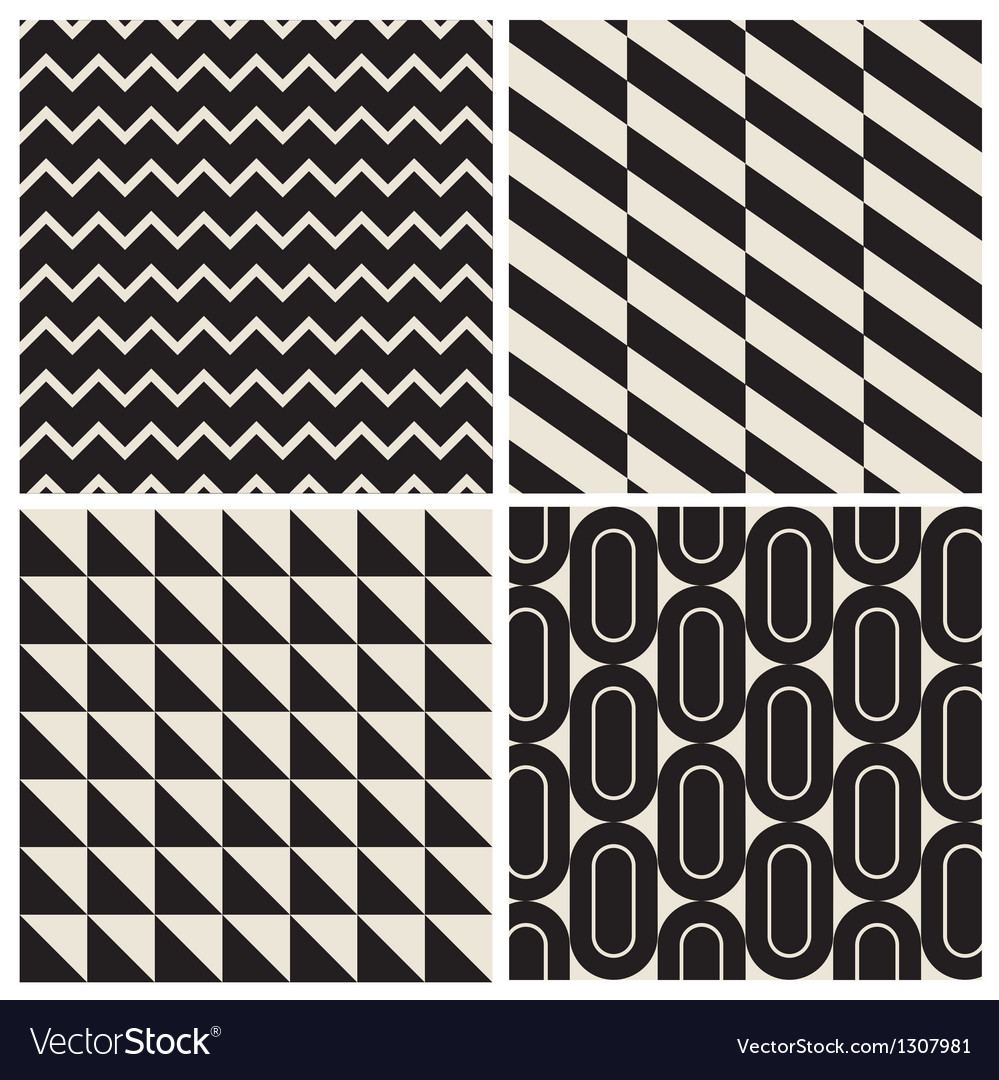 Geometric pattern background set vector | Price: 1 Credit (USD $1)