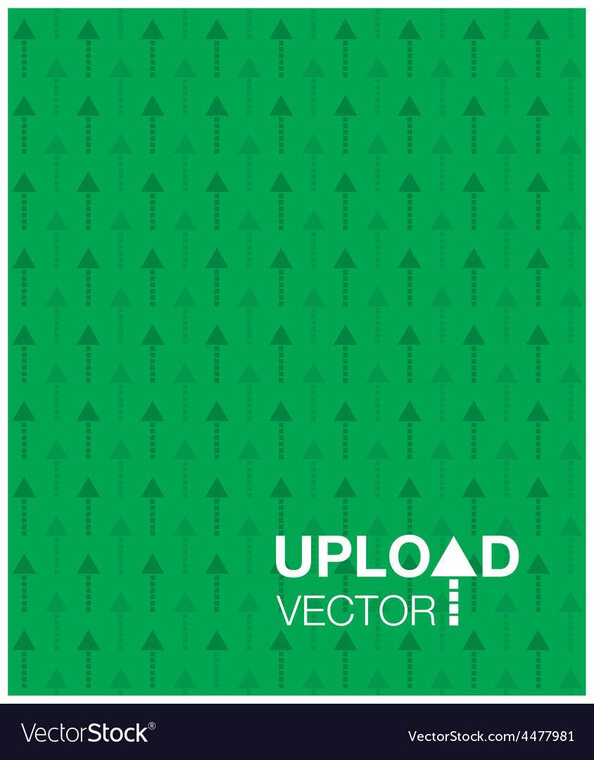 Green upload background vector | Price: 1 Credit (USD $1)