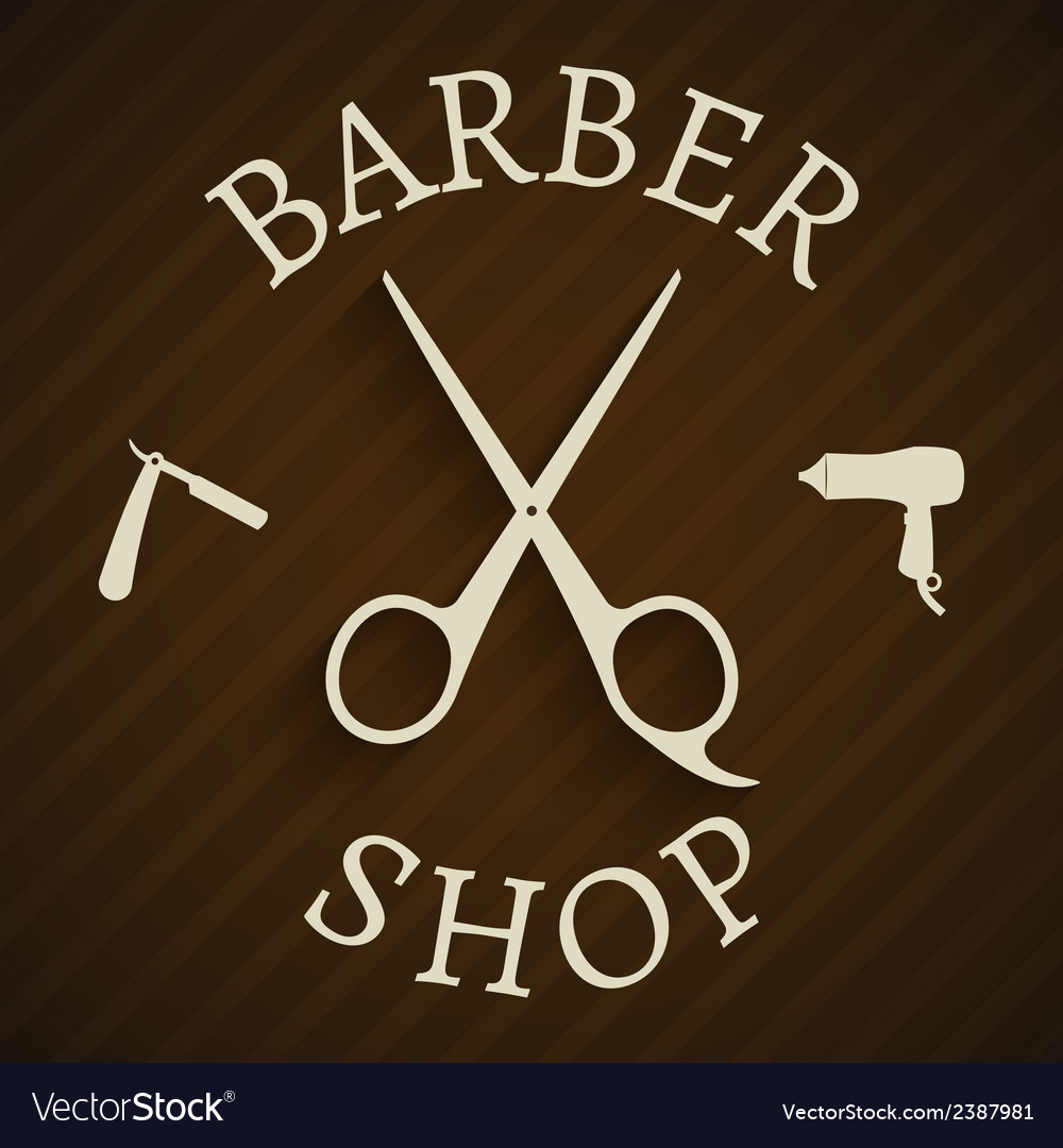Hairdresser barber shop poster vector | Price: 1 Credit (USD $1)