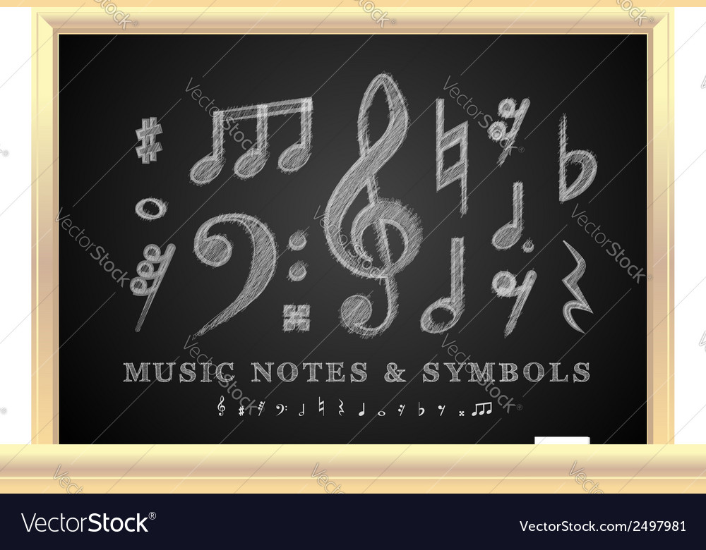 Handwritten musical notes vector | Price: 1 Credit (USD $1)