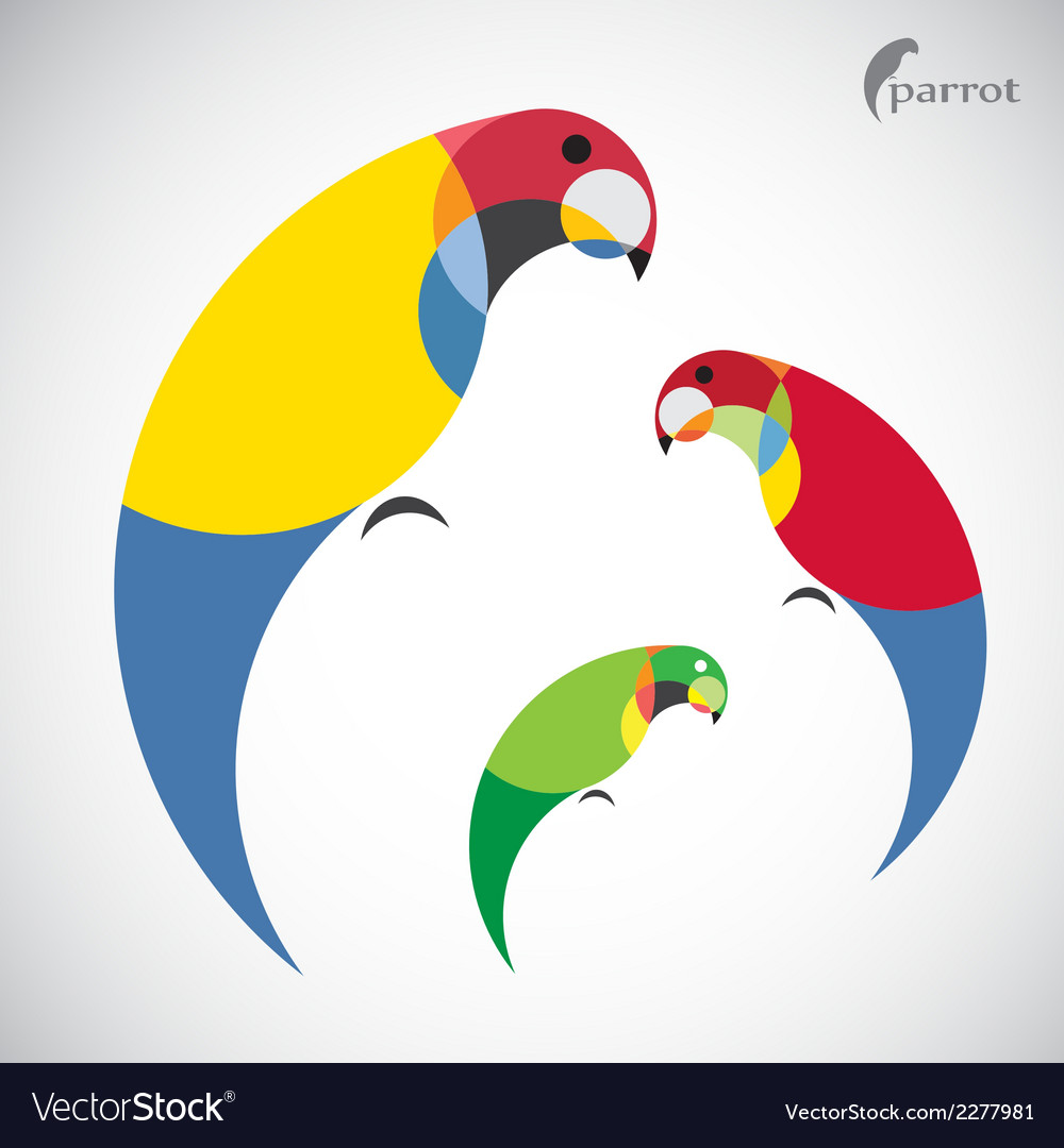 Image of an parrot design vector | Price: 1 Credit (USD $1)