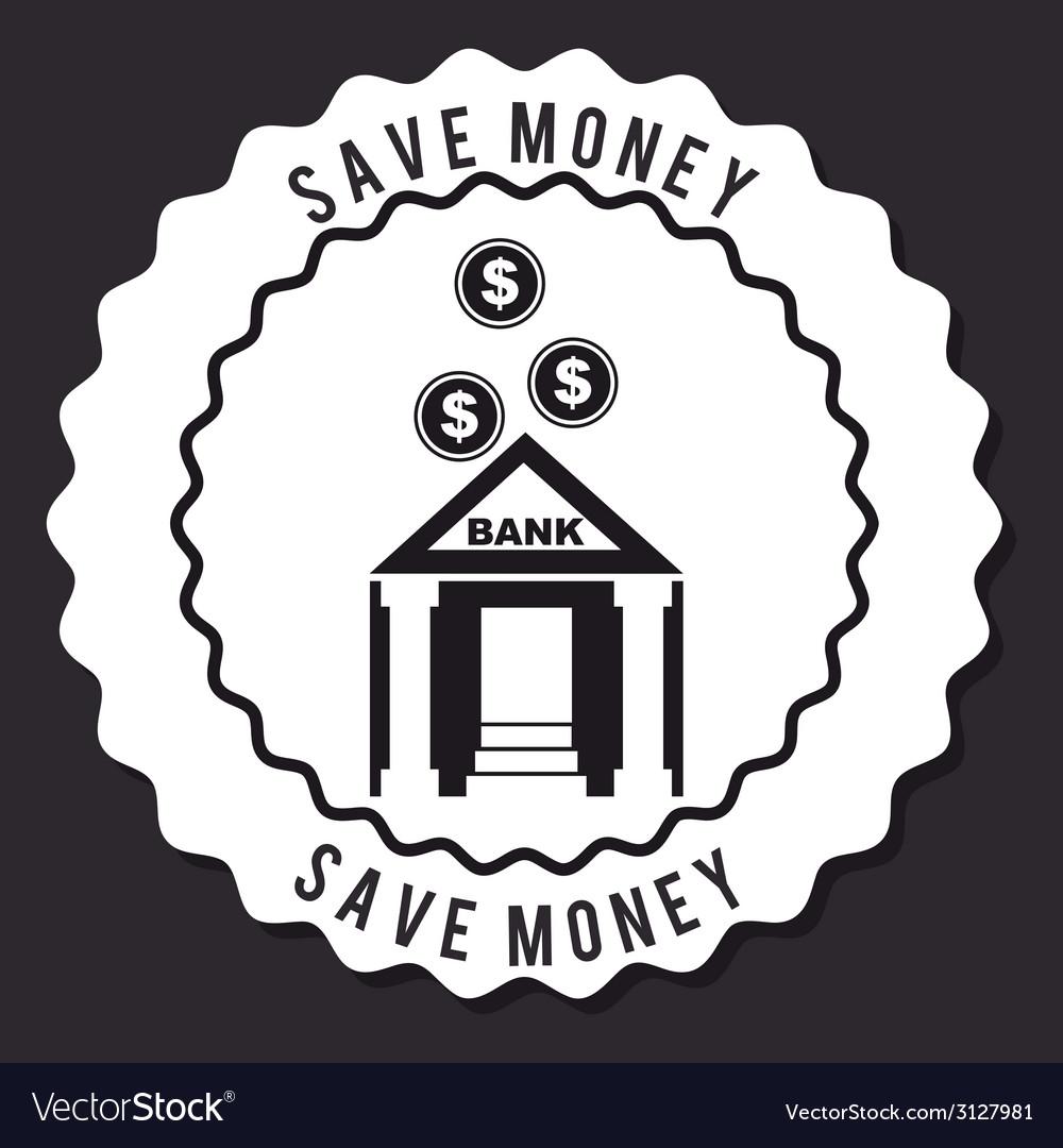 Save money design vector | Price: 1 Credit (USD $1)