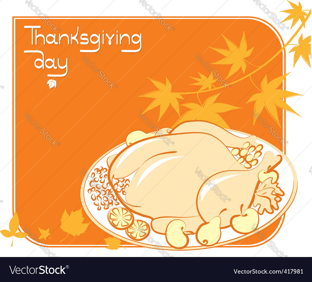 Thanksgiving meal vector | Price: 1 Credit (USD $1)