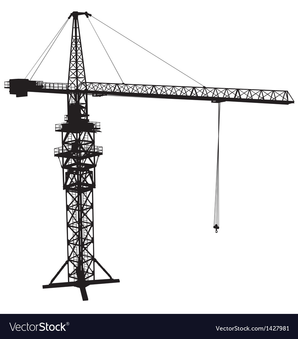 Tower crane vector | Price: 1 Credit (USD $1)