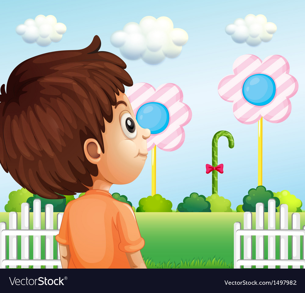 A child looking at the lollipop vector | Price: 1 Credit (USD $1)
