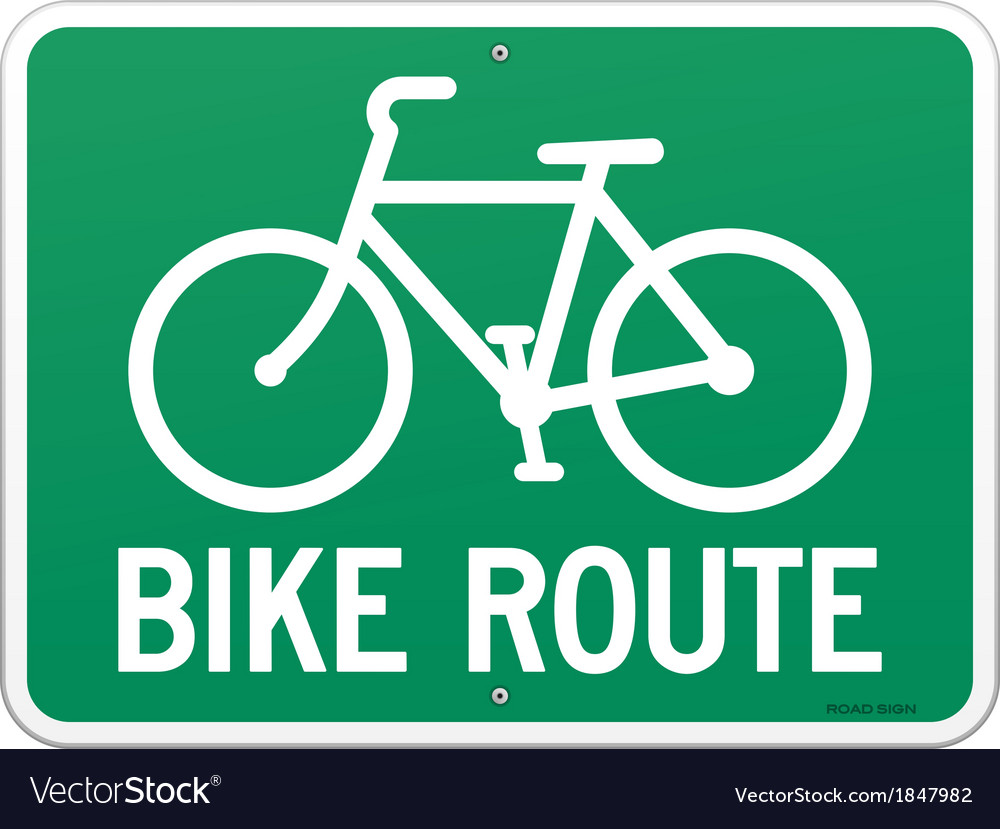 Bicycle route sign vector | Price: 1 Credit (USD $1)