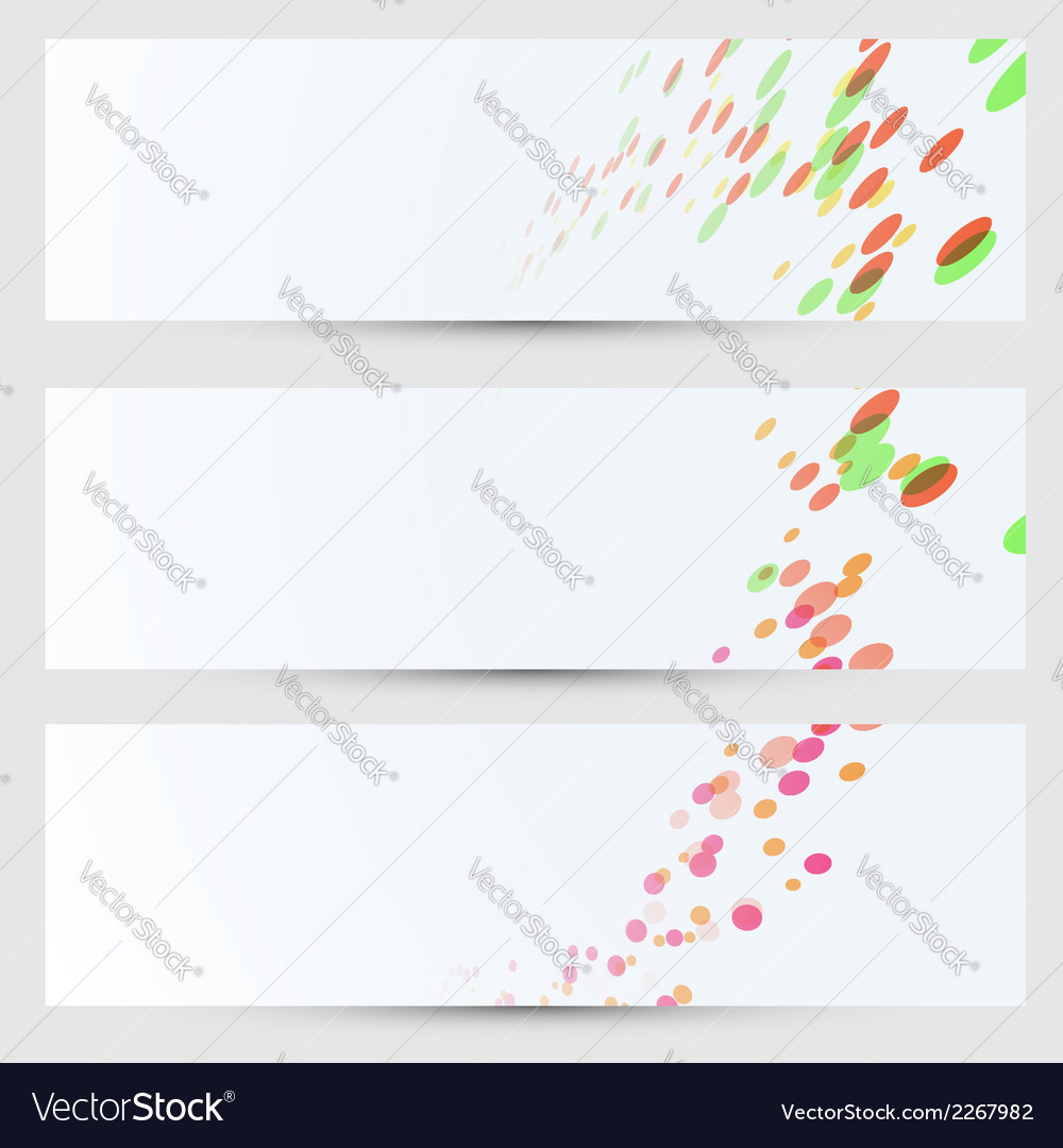 Cards bright colorful circles collection vector | Price: 1 Credit (USD $1)