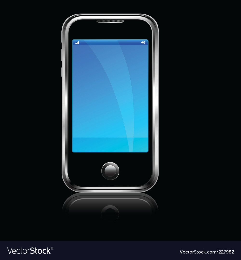 Cell phone black blackground vector | Price: 1 Credit (USD $1)