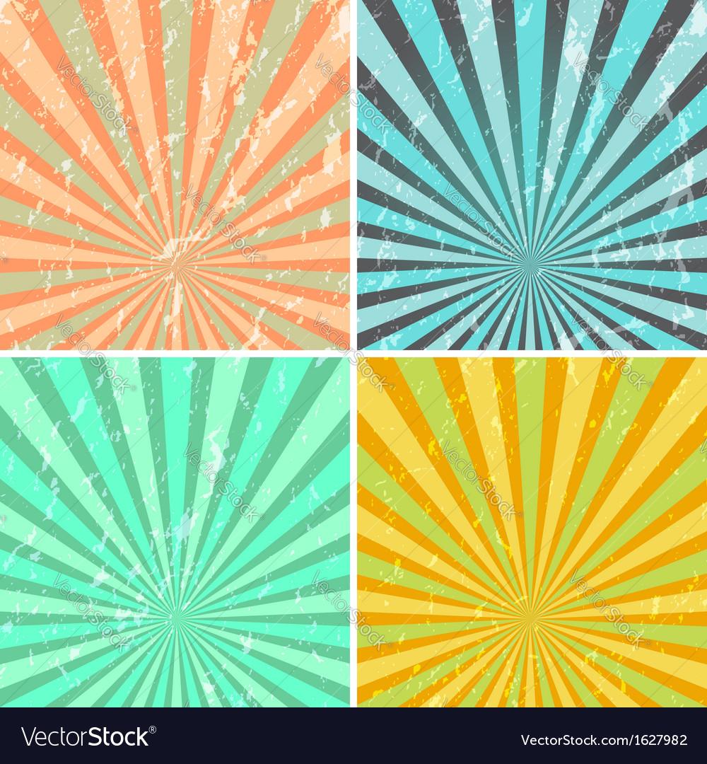 Grunge sunburst background vector   Price: 1 Credit (USD $1)
