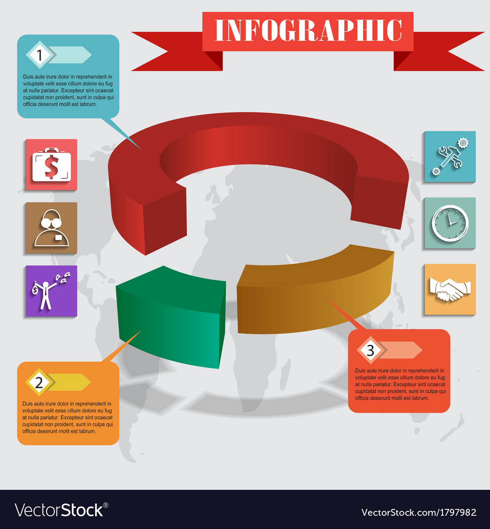 Infographics pie for web and mobile vector | Price: 1 Credit (USD $1)