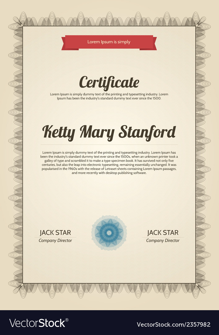 Multipurpose vertical certificate vector | Price: 1 Credit (USD $1)