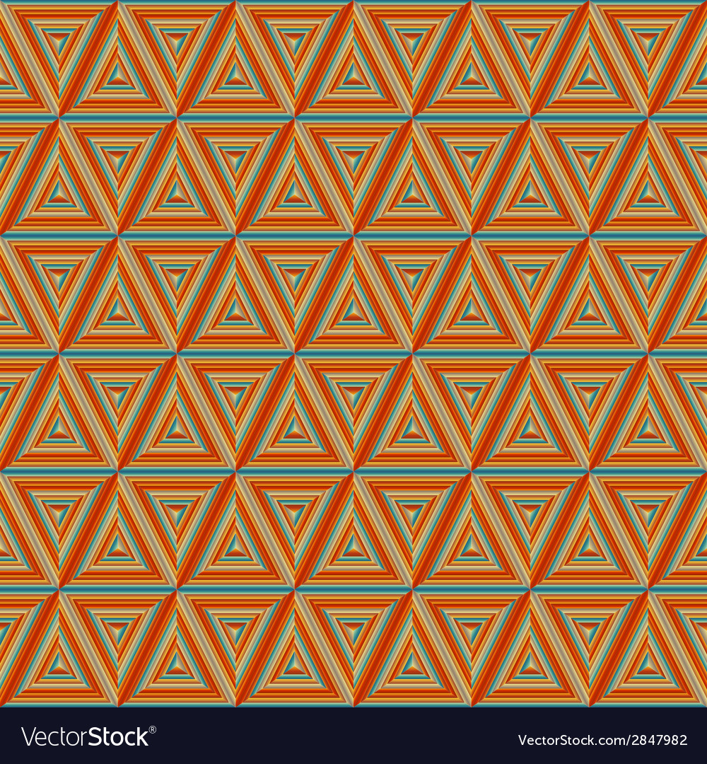 Seamless colorful orange triangulate pattern vector | Price: 1 Credit (USD $1)