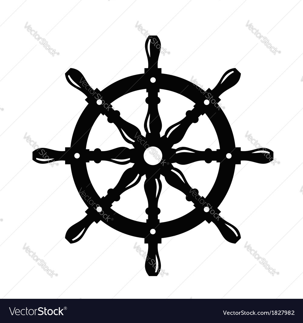 Ship steering wheel vector | Price: 1 Credit (USD $1)