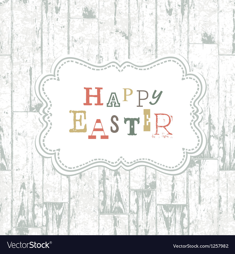 Vintage easter card vector | Price: 1 Credit (USD $1)