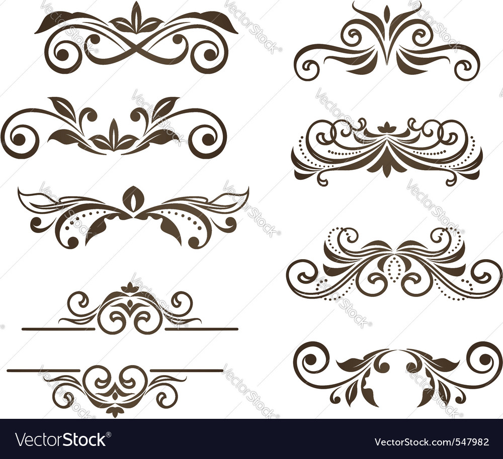 Vintage floral motifs vector | Price: 1 Credit (USD $1)