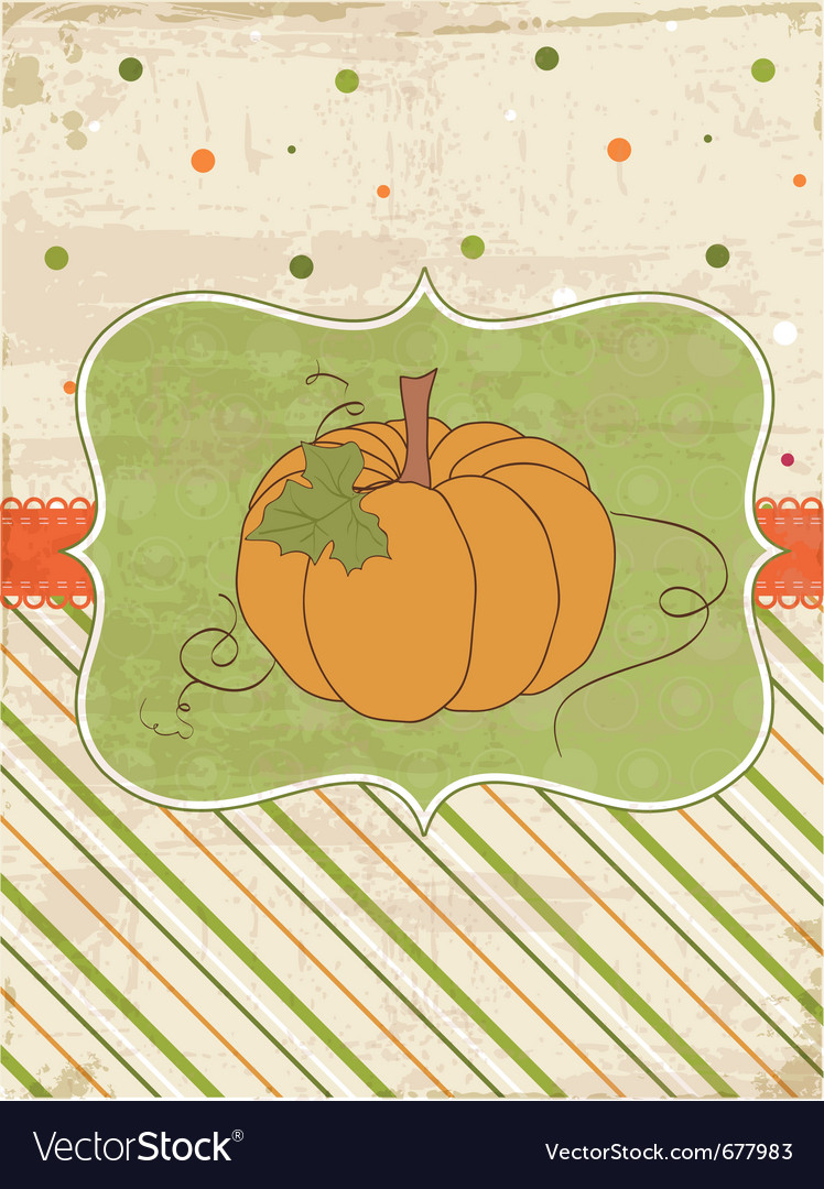 Autumn pumpkin card vector | Price: 1 Credit (USD $1)