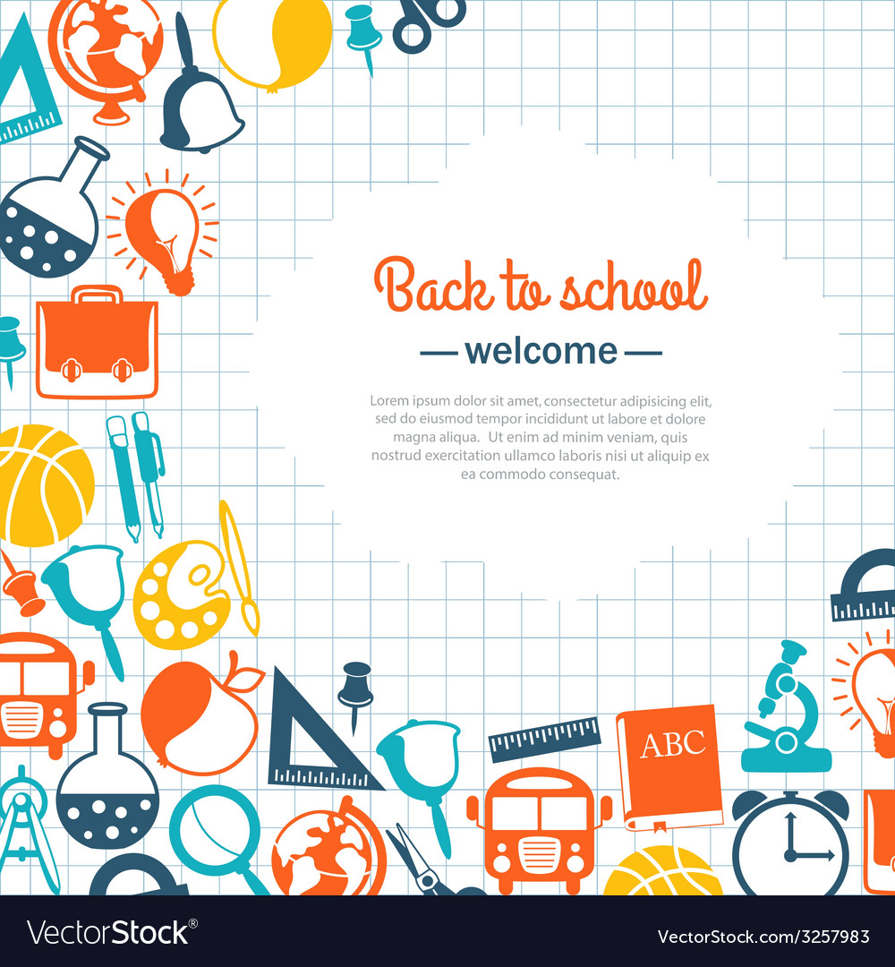 Back to school background for school vector | Price: 1 Credit (USD $1)