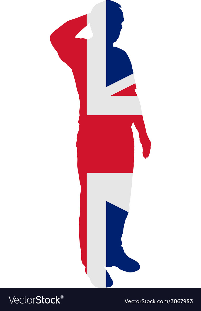 British salute vector | Price: 1 Credit (USD $1)
