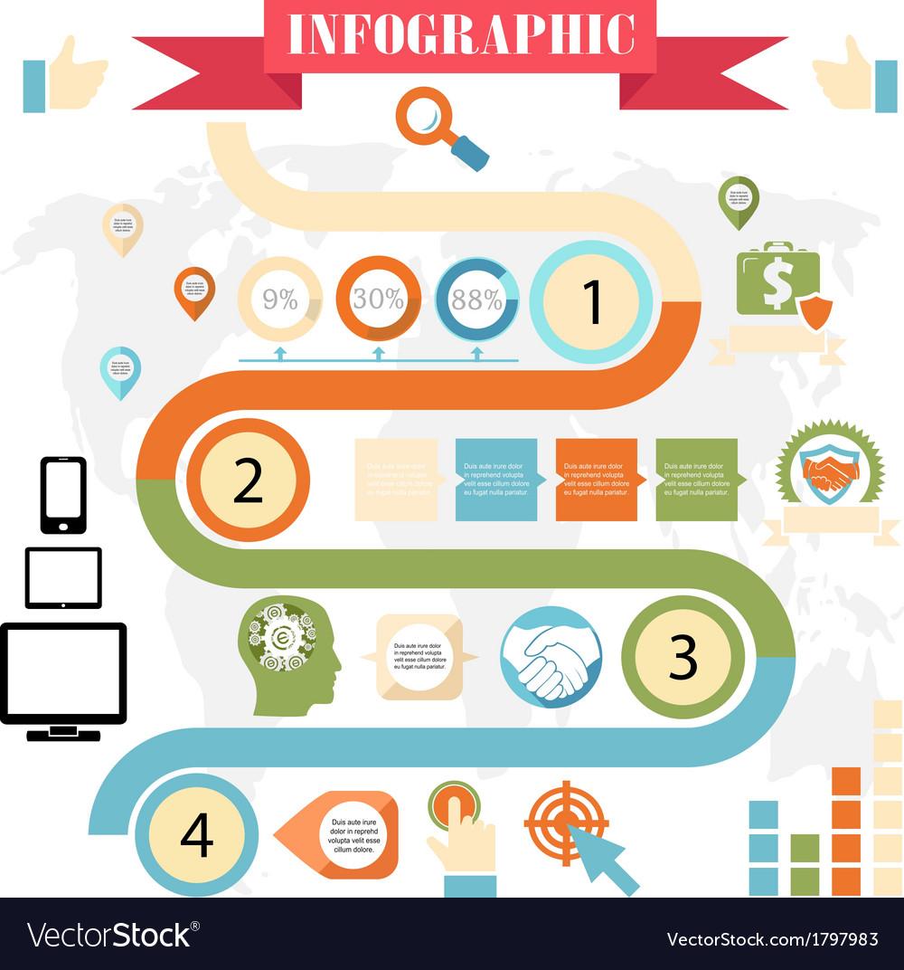 Business steps development infographics vector   Price: 1 Credit (USD $1)