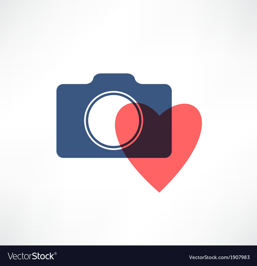 Camera icon i love photography vector | Price: 1 Credit (USD $1)
