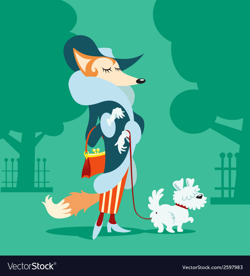 Mrs fox vector | Price: 1 Credit (USD $1)