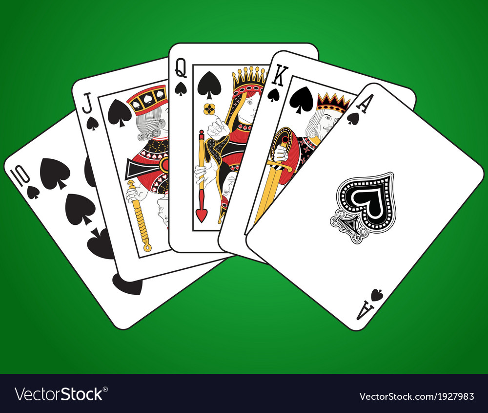 Royal flush of spades vector | Price: 1 Credit (USD $1)