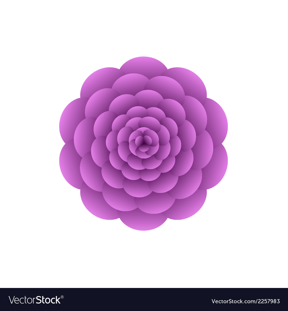 Violet flower vector | Price: 1 Credit (USD $1)