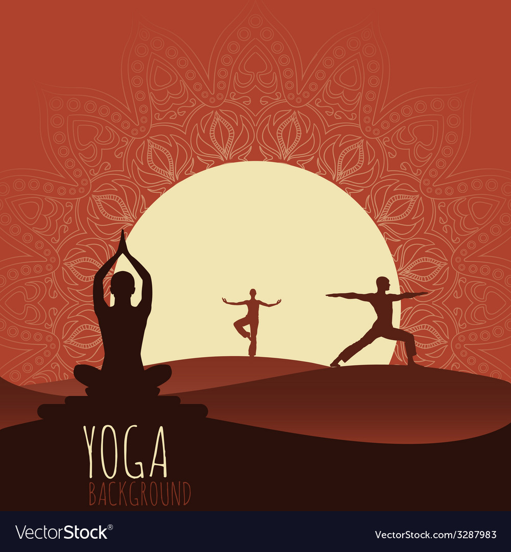 Yoga background vector | Price: 1 Credit (USD $1)