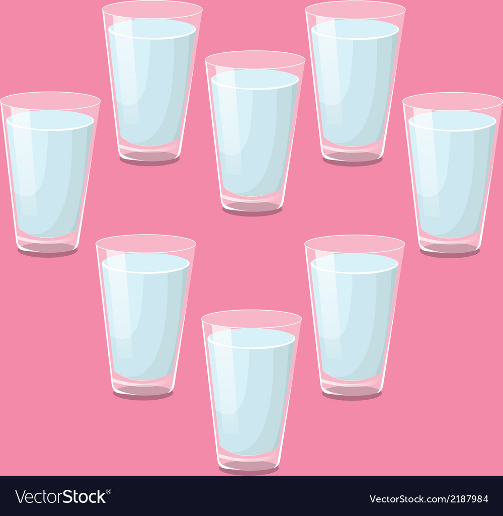 8 glasses of water a day vector | Price: 1 Credit (USD $1)