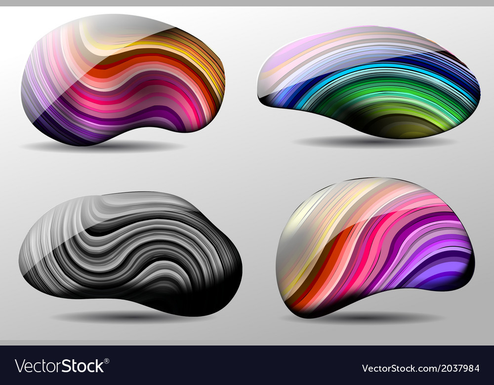 Abstract stones vector