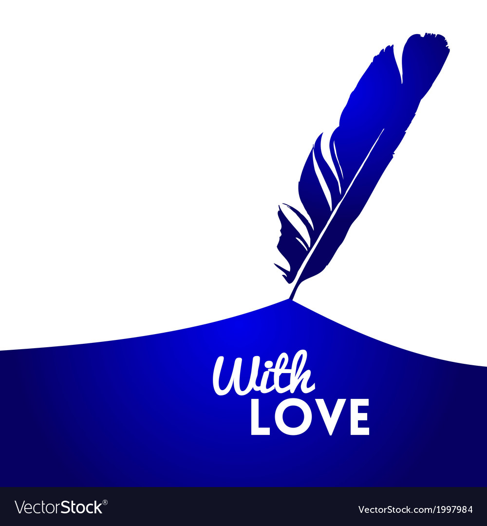 Background with blue feather vector | Price: 1 Credit (USD $1)