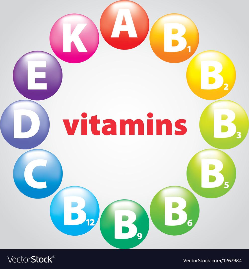 Beads of vitamins vector | Price: 1 Credit (USD $1)