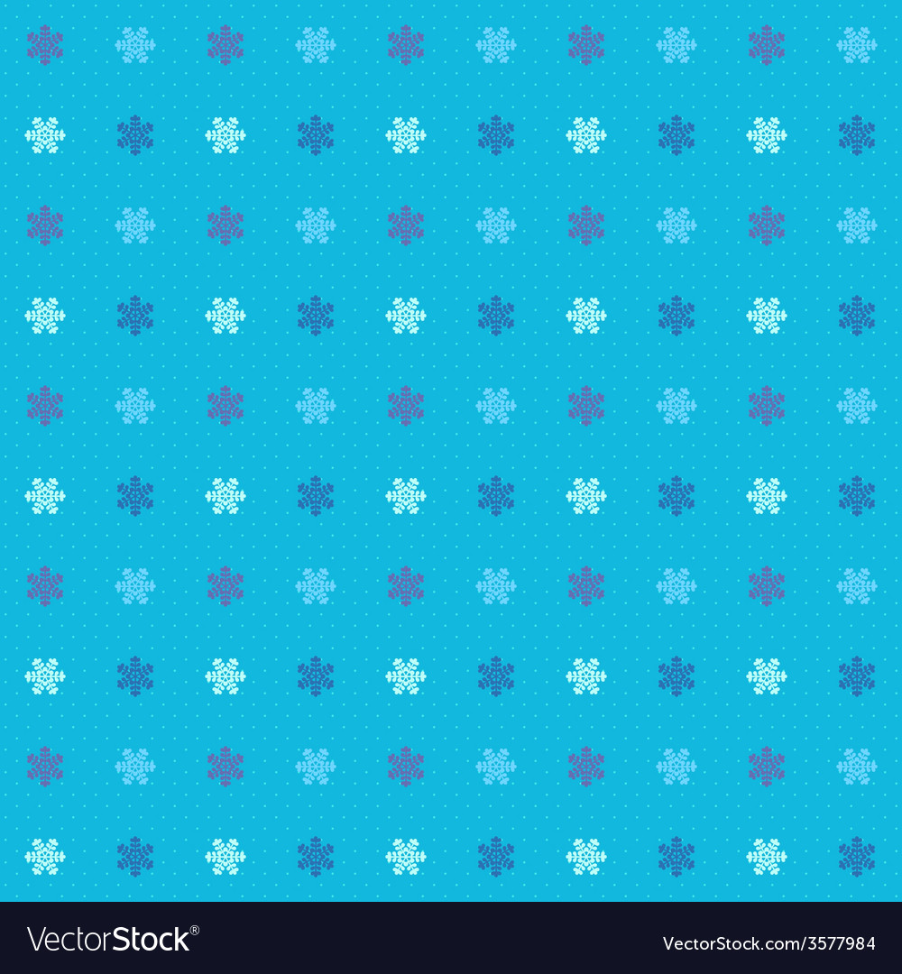 Blue winter seamless pattern with snowflakes vector | Price: 1 Credit (USD $1)