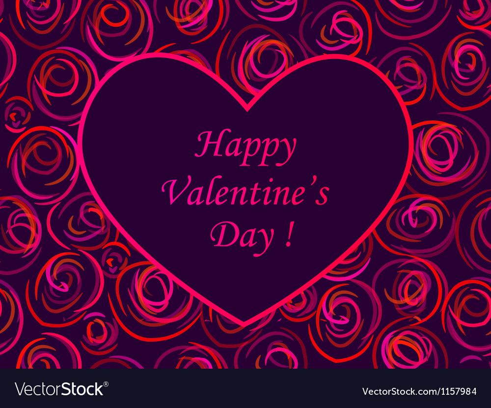 Card valentine vector | Price: 1 Credit (USD $1)