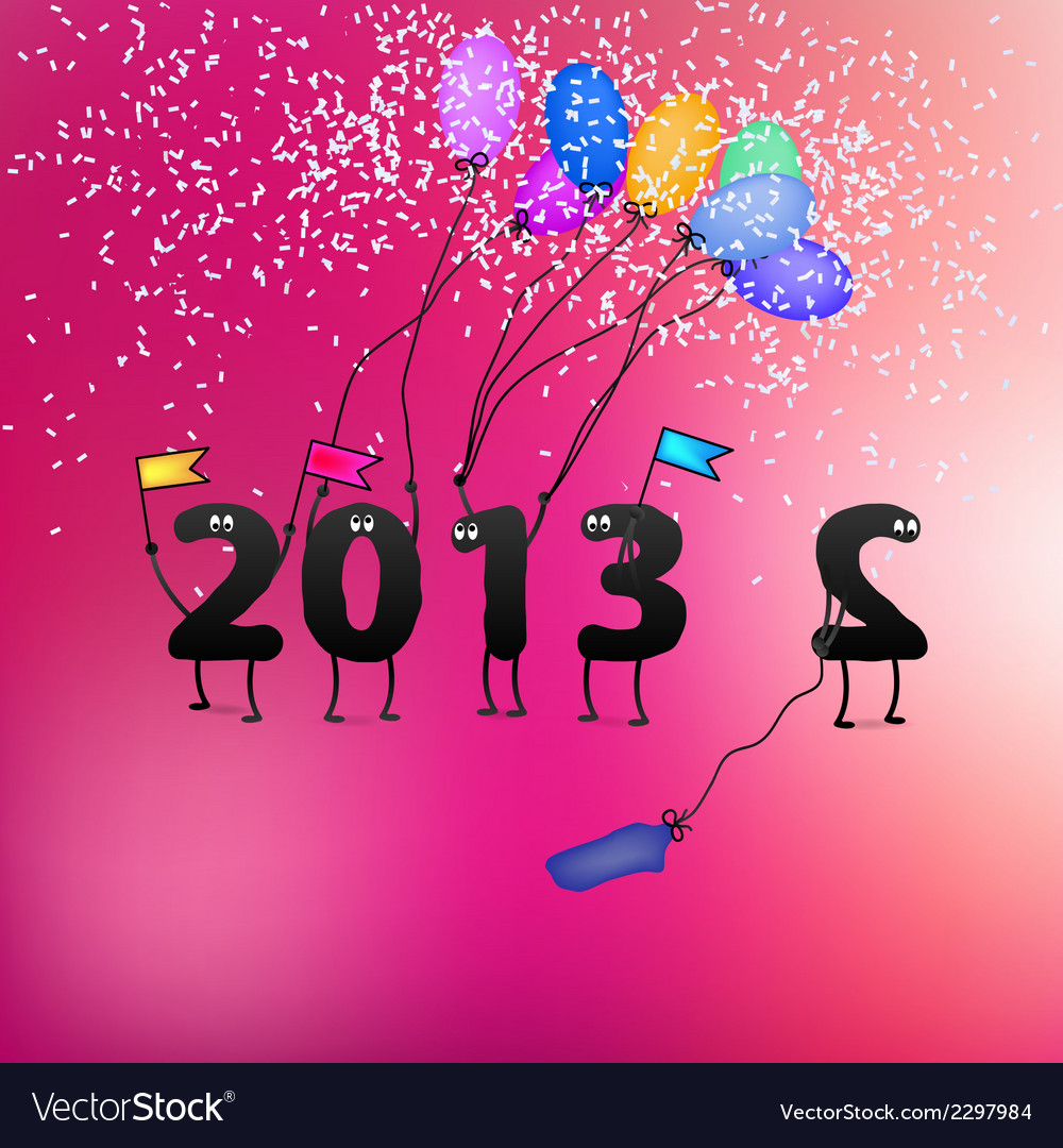 Funny 2013 new years eve greeting card  eps8 vector | Price: 1 Credit (USD $1)