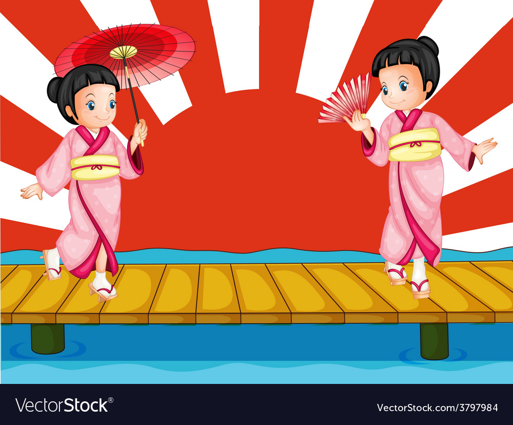 Japanese girls vector | Price: 1 Credit (USD $1)
