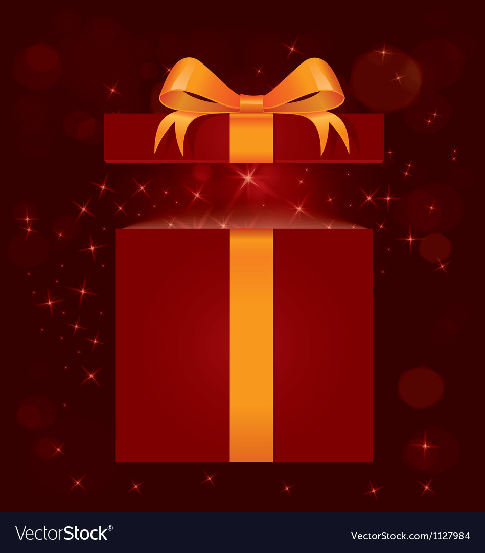 Magic light gift box vector | Price: 1 Credit (USD $1)