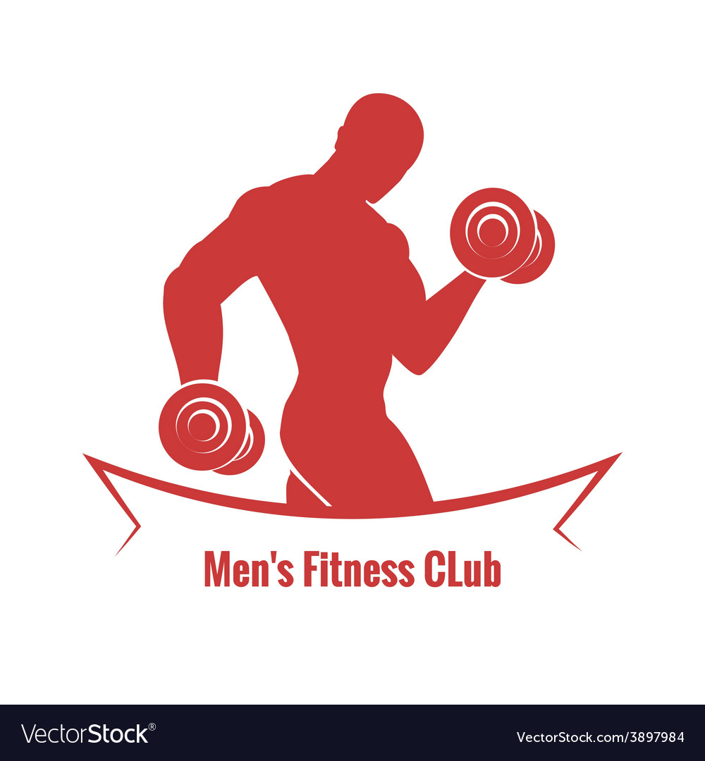 Mens fitness club logo vector | Price: 1 Credit (USD $1)