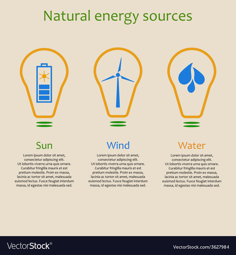 Natural energy sources vector | Price: 1 Credit (USD $1)
