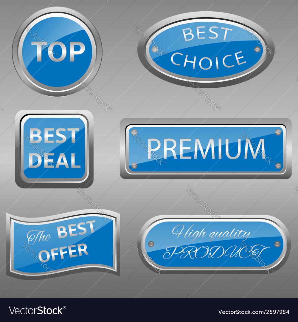 Seals-stickers set vector   Price: 1 Credit (USD $1)